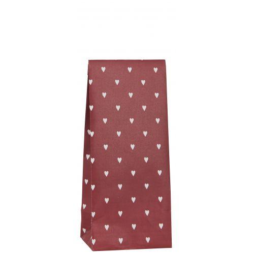 IB LAURSEN / Papierový sáčok Hearts Red 22,5cm