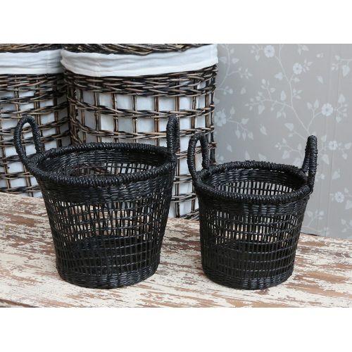 Chic Antique / Úložný košík Seagrass Black