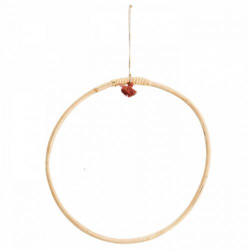 MADAM STOLTZ / Závesný bambusový kruh Bamboo 30 cm