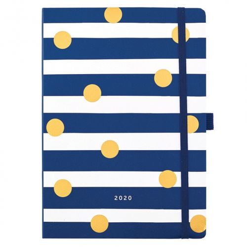 Busy B / Diár Day a Page Diary 2020 Stripes & Dots