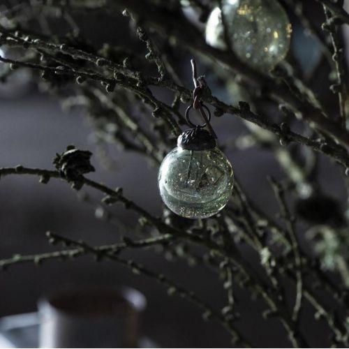 IB LAURSEN / Vianočná ozdoba Pebbled Glass Moss Green Mini - set 8 ks