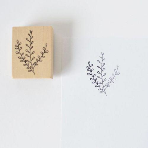 MANKAI Paper / Drevená pečiatka Vetvička