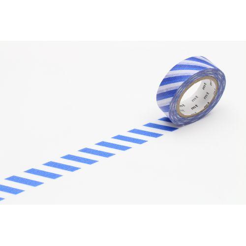 mt / Japonská papierová páska Stripe Blue