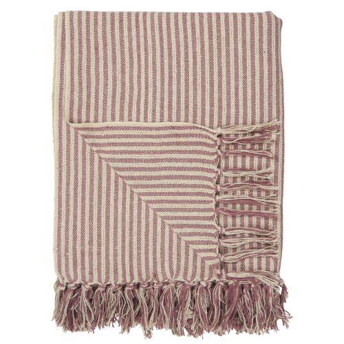 IB LAURSEN / Bavlnený prehoz Malva Wide Stripes