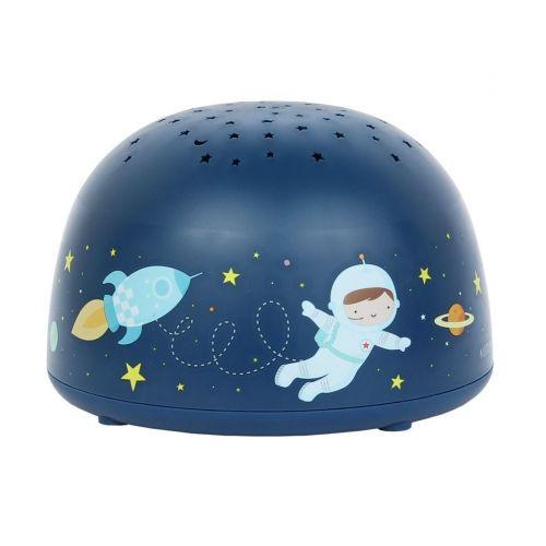 A Little Lovely Company / Detská LED lampička s projektorom nočnej oblohy Space