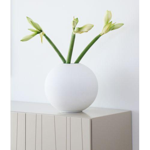 COOEE Design / Kulatá váza Ball White 30 cm