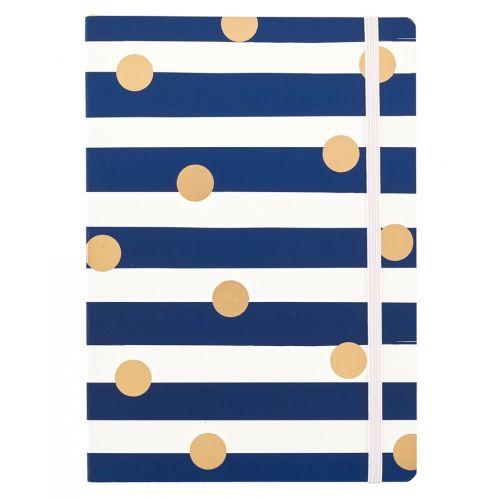 Busy B / Nedatovaný mesačný diár Stripes & Dots A5