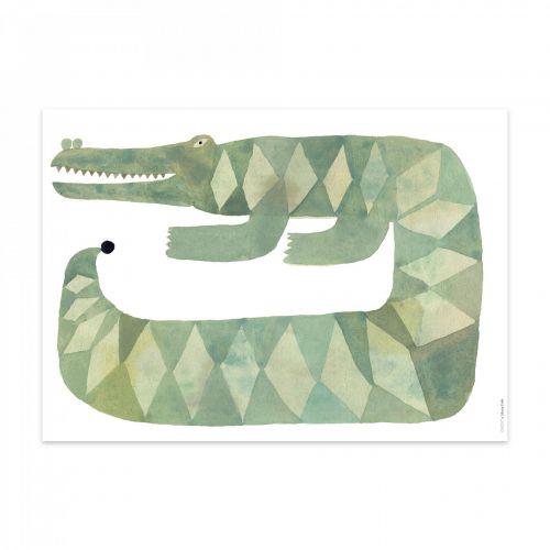 OYOY / Plagát Crocodile Gustav 50x70cm
