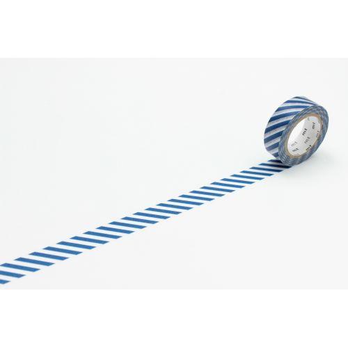 mt / Dizajnová samolepiaca páska Stripe marine blue