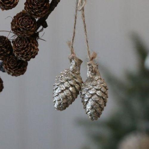 Chic Antique / Vianočná ozdoba Gold Cones