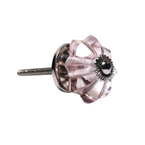 La finesse / Sklenená úchytka Antik pink