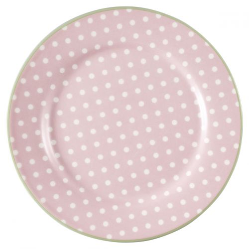 GREEN GATE / Porcelánový tanier Spot Pale Pink ⌀ 20,5 cm