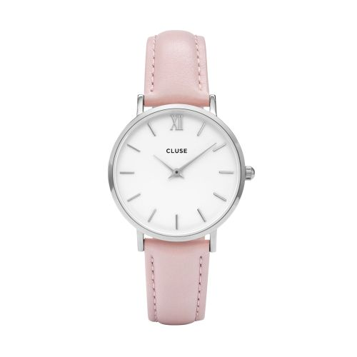CLUSE / Hodinky Cluse Minuit Silver white/pink