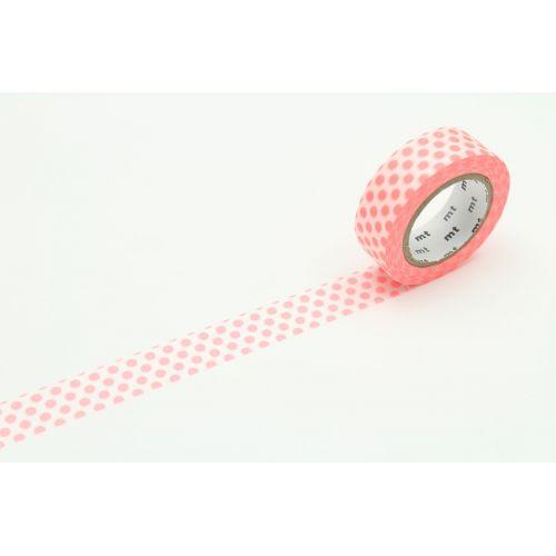 mt / Japonská papierová páska Dot Shocking Red