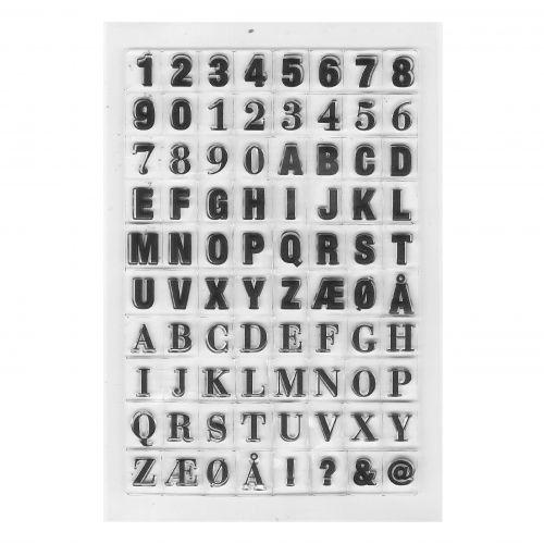 MONOGRAPH / Sada písmen a číslic k pečiatke Monograph