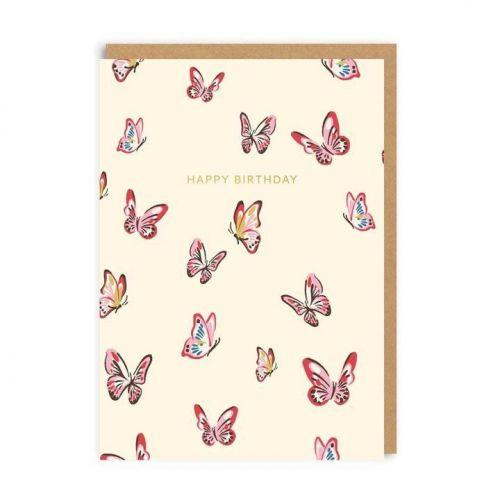 Ohh Deer / Narodeninové blahoželanie Butterflies