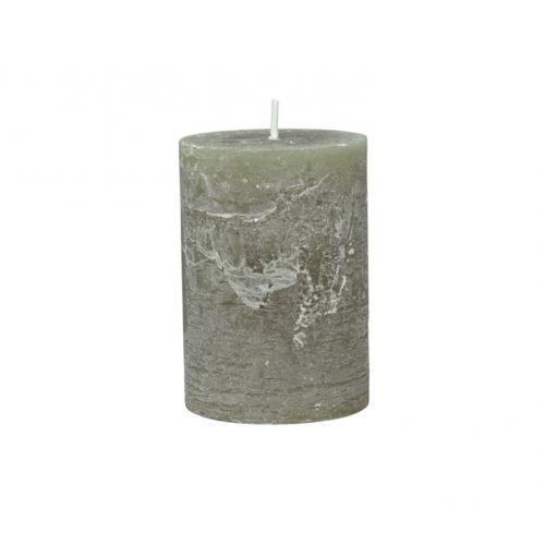 Chic Antique / Okrúhla sviečka Macon Rustic Olive 10cm