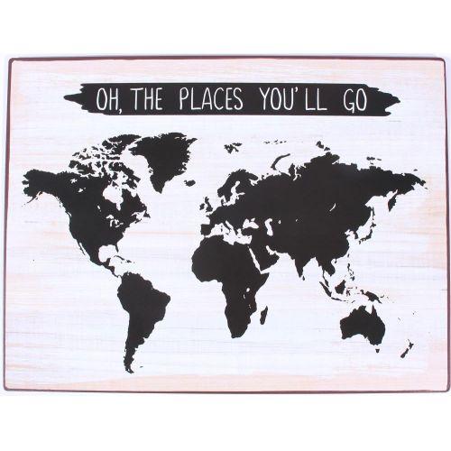 La finesse / Plechová ceduľa Oh, the places you'll go