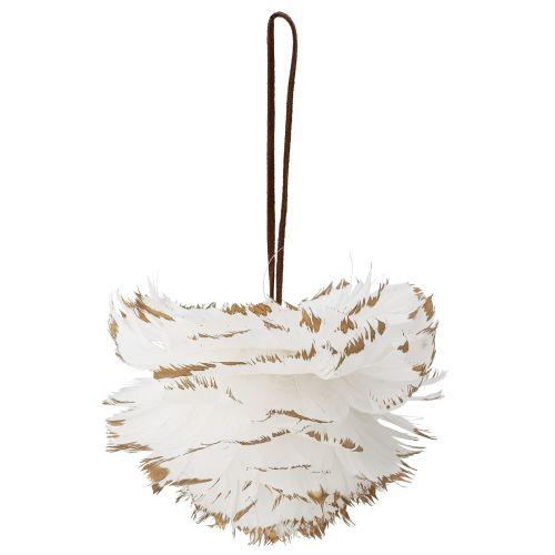 Bloomingville / Vianočná ozdoba White Feather 12 cm