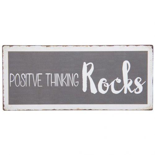 IB LAURSEN / Plechová ceduľa Positive Thinking Rocks