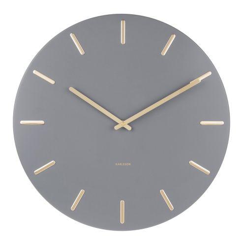 Karlsson / Nástenné hodiny Charm Grey