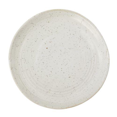 House Doctor / Porcelánový dezertný tanier Pion Grey/White