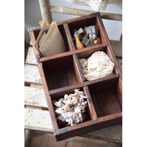Jeanne d'Arc Living / Drevený box s priehradkami Old Wood