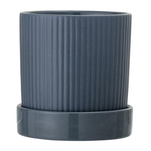 Bloomingville / Keramický obal na kvetináč Blue Stoneware