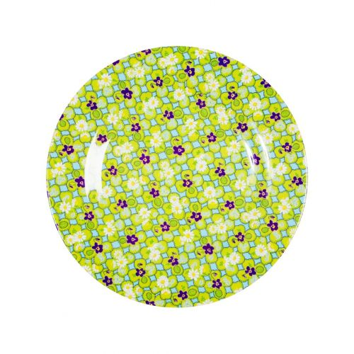 rice / Melaminový talíř zeleno-fialový