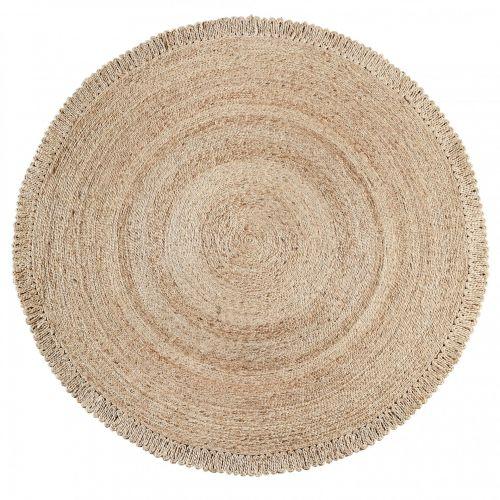MADAM STOLTZ / Jutový koberec Round Natural ø180