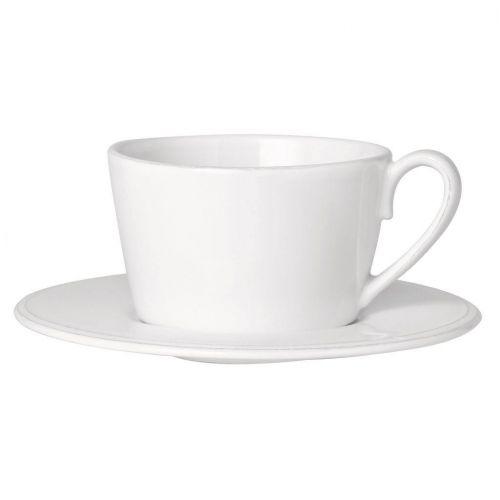 CÔTÉ TABLE / Keramická šálka s podšálkou Constance White 350ml