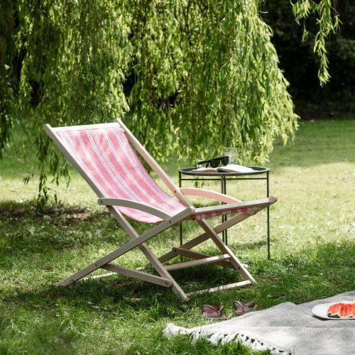 Garden Trading / Záhradné ležadlo Rhubarb Stripe