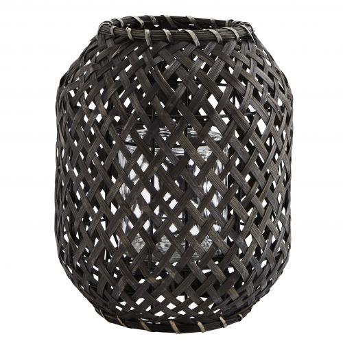 MADAM STOLTZ / Bambusový lampáš Black Bamboo