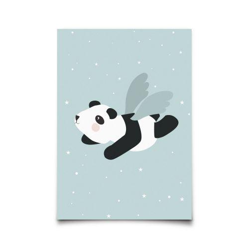 EEF lillemor / Pohľadnica Flying Panda Mint