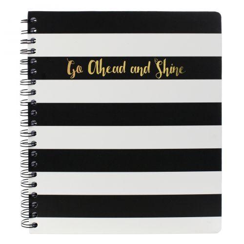 TRI-COASTAL DESIGN / Notes v krúžkovej väzbe Black stripe 28 cm