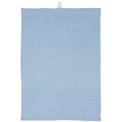 IB LAURSEN / Bavlnená utierka Blue Woven 50×70 cm
