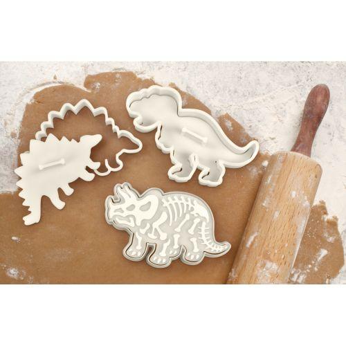 Kitchen Craft / Vykrajovátka na sušienky - dinosaury - 3 ks