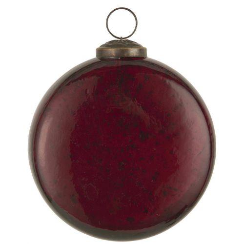 IB LAURSEN / Plochá vianočná banka Pebbled Glass Rhododendron