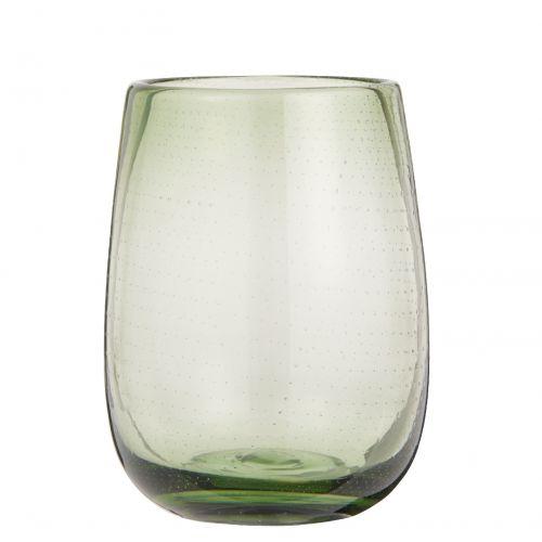 IB LAURSEN / Sklenená váza Bubbles Olive 15 cm