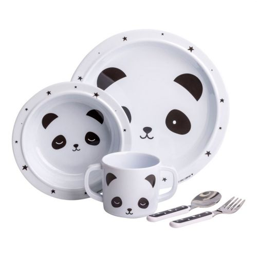 A Little Lovely Company / Set detského melamínového riadu Panda