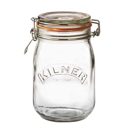 KILNER / Okrúhly zavárací pohár s klipsou 1 l