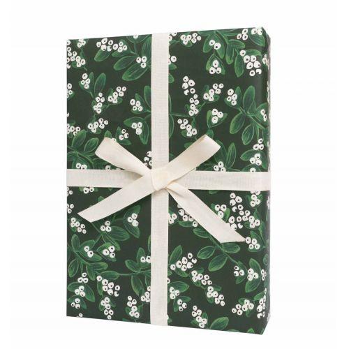 Rifle Paper Co. / Vianočný baliaci papier Mistletoe Green 1 arch