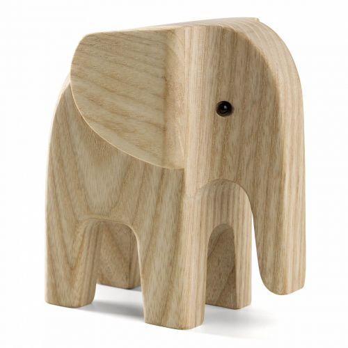 novoform / Drevený slon Elephant Natural Ash