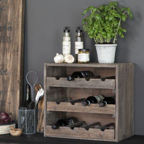 IB LAURSEN / Drevený stojan na víno Wood