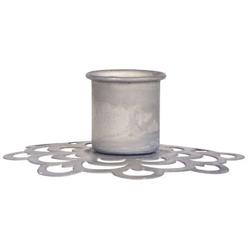 IB LAURSEN / Kovový svietnik Flower Pattern Grey