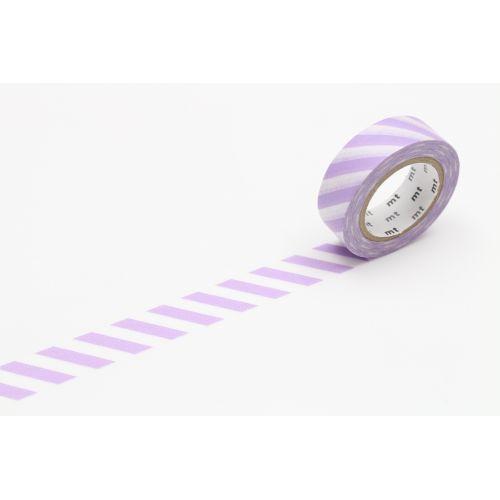 mt / Japonská papierová páska Lilac Stripe