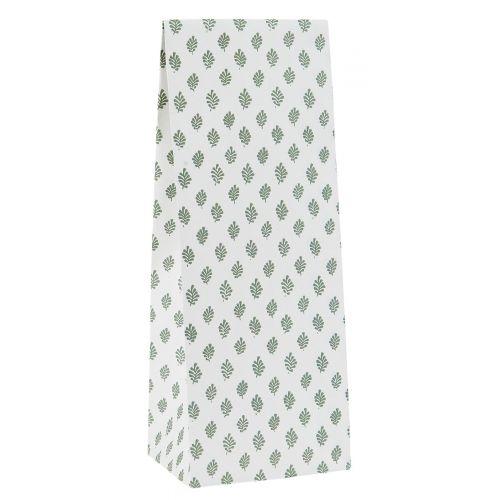 IB LAURSEN / Papierový sáčok Green Leaves 9 x 22,5 cm