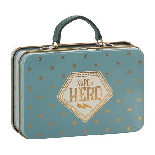 Maileg / Plechový kufrík Blue Gold Stars