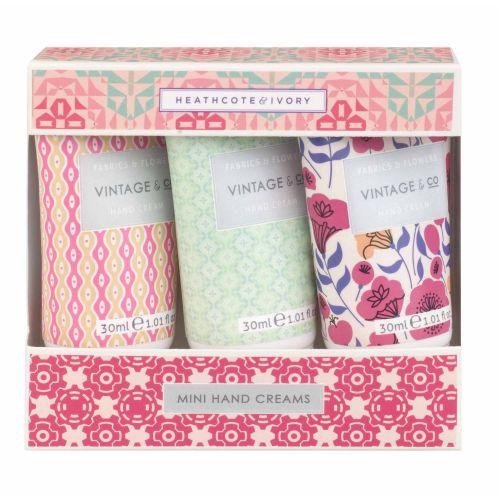 HEATHCOTE & IVORY / Darčeková sada mini krémov na ruky Fabrics & Flowers
