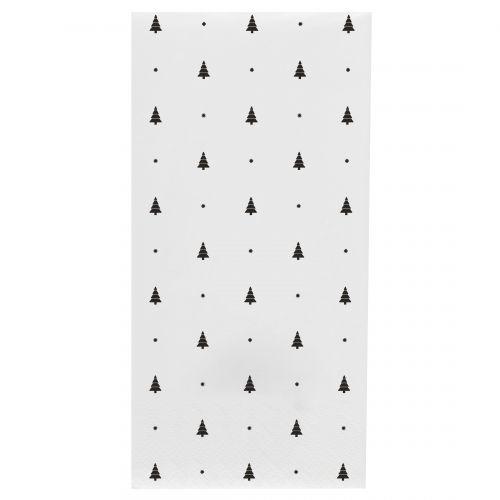 IB LAURSEN / Papierové obrúsky Black Trees - 16 ks